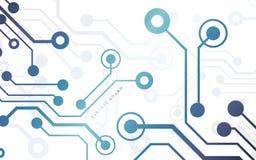 Placa de circuito, fondo de la tecnología Ilustración del vector libre illustration