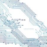 Placa de circuito, fondo de la tecnología Ilustración del vector ilustración del vector