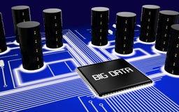 Placa de circuito grande de los datos Fotos de archivo