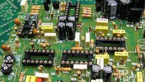 Placa de circuito impresa con los componentes foto de archivo libre de regalías