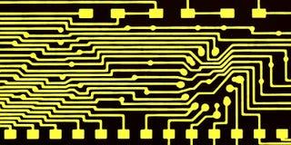 Placa de circuito impresa, contactos stock de ilustración