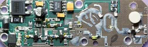 Placa de circuito impresa del oscilador de microonda Imágenes de archivo libres de regalías