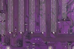 Placa de circuito impresa polvorienta Primer de alta tecnología Fotos de archivo