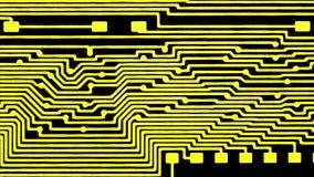 Placa de circuito impresso, contatos para os componentes de rádio fotografia de stock royalty free
