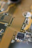 Placa de circuito impresso do amarelo Imagem de Stock Royalty Free