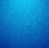 Placa de circuito impresso do azul ilustração do vetor