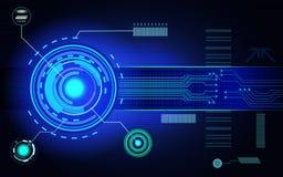 A placa de circuito impresso do de alta tecnologia com diodo emissor de luz de incandescência ilumina-se Fotos de Stock