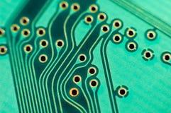 Placa de circuito impresso, macro Fotos de Stock Royalty Free