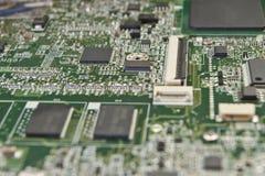 Placa de circuito impresso para componentes eletrônicos fotografia de stock royalty free