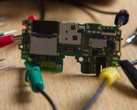 Placa de circuito impresso profissional do teste do reparo Fotografia de Stock