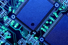 Placa de circuito - macro extremo fotos de stock