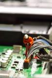 Placa de circuito modelo C del trabajador Fotografía de archivo libre de regalías
