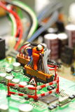 Placa de circuito modelo F del trabajador Fotografía de archivo libre de regalías