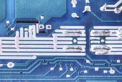 Placa de circuito Placa de componentes eletrônicos Imagens de Stock Royalty Free