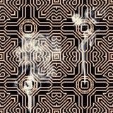 Placa de circuito recalentada Foto de archivo libre de regalías