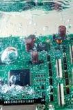 Placa de circuito sob a água Imagem de Stock Royalty Free