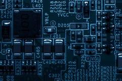 Placa de circuito Tecnologia de material informático eletrônica Componente da engenharia da informação Fotografia macro Fotos de Stock