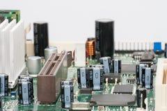 Placa de circuito Tecnologia de material informático eletrônica Microplaqueta digital do cartão-matriz foto de stock