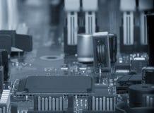 Placa de circuito Tecnologia de material informático eletrônica Microplaqueta digital do cartão-matriz fotos de stock