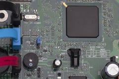 Placa de circuito Tecnologia de material informático eletrônica Microplaqueta digital do cartão-matriz fotografia de stock