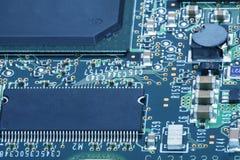 Placa de circuito Tecnologia de material informático eletrônica Microplaqueta digital do cartão-matriz imagem de stock