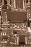 Placa de circuito Tecnologia de material informático eletrônica Microplaqueta digital do cartão-matriz foto de stock royalty free