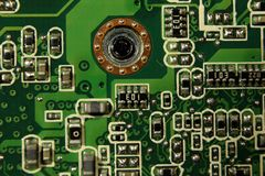 Placa de circuito de um computador fotografia de stock