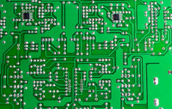 A placa de circuito verde Foto de Stock