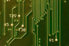 Placa de circuito verde Foto de archivo libre de regalías