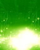 Placa de circuito verde imagens de stock
