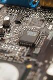 Placa de circuito video do cartão gráfico com elementos eletrônicos Foto de Stock
