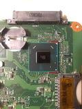 Placa de circuito y microprocesador fotos de archivo libres de regalías