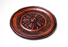 Placa de cobre aislada Fotografía de archivo