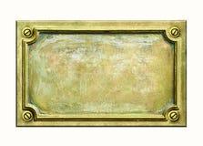 Placa de cobre amarillo Imágenes de archivo libres de regalías