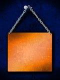 Placa de cobre amarillo colgante Fotos de archivo