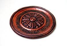 Placa de cobre isolada Fotografia de Stock