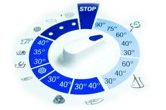 Placa de controle da máquina de lavar Foto de Stock Royalty Free