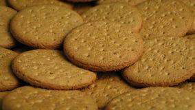 Placa de cookies lisas video estoque