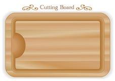 Placa de corte de madeira, retângulo Foto de Stock Royalty Free