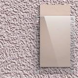 Placa de cristal en el fondo de la pared pintada Imagen de archivo libre de regalías
