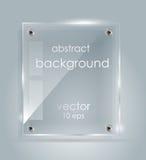 Placa de cristal rectangular con un lugar para las inscripciones Fotografía de archivo libre de regalías