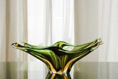 Placa de cristal verde de Murano fotografía de archivo