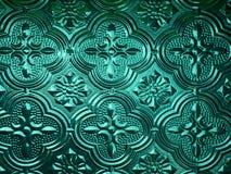 Placa de cristal verde puesta a contraluz Imagenes de archivo