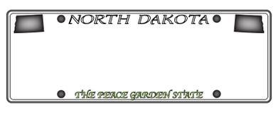 Placa de Dakota del Norte Foto de archivo libre de regalías