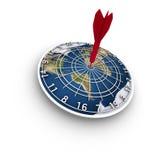 Placa de dardo do bullseye da terra Fotos de Stock Royalty Free