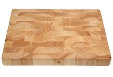 Placa de desbastamento de madeira do bloco de carniceiro imagem de stock