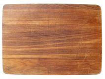 Placa de desbastamento de madeira escura Foto de Stock Royalty Free