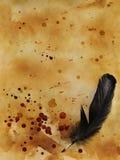 Placa de Dia das Bruxas com gotas ensanguentados Imagem de Stock