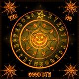 Placa de Dia das Bruxas Ouija ilustração stock