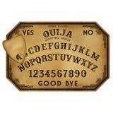 Placa de Dia das Bruxas Ouija ilustração royalty free